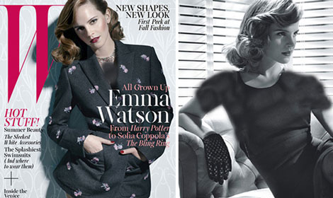 مصاحبه اما واتسون بازیگر معروف هالیوود با مجله W