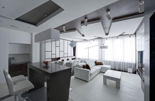 مدل دکوراسیون خانه به رنگ سفید