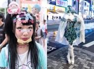 قیافه های عجیب دختران ژاپنی در این روزها +عکس