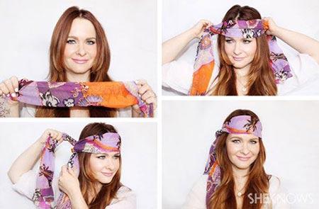 ژورنال جدیدترین روش بستن روسری – آموزش تصویری