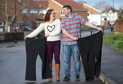 تغییر جالب این زن و شوهر پس از لاغر شدن (عکس)