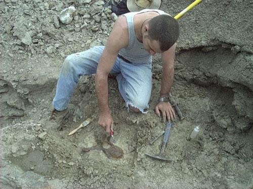 مرد شکارچی به دنبال دایناسورها (عکس)