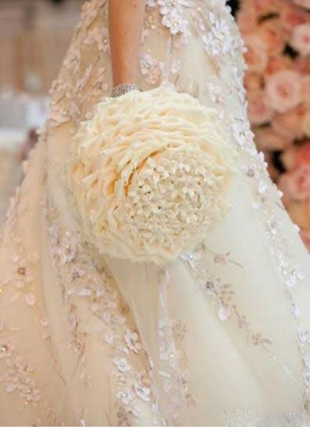 عکس هایی از مدل های زیبای دسته گل عروس