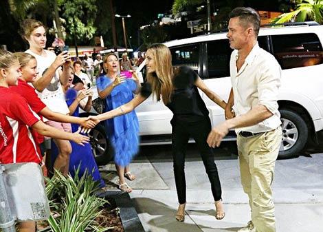 شام رمانتیک آنجلینا جولی و براد پیت در استرالیا