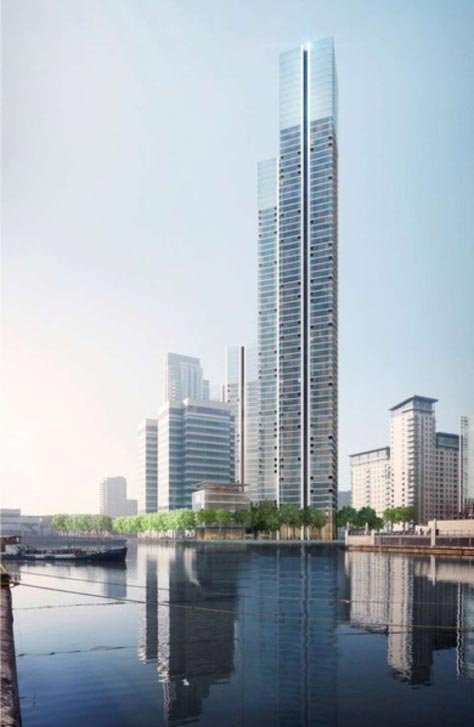 بلندترین برج مسکونی در لندن +عکس