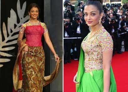 مدل های لباس آیشواریا رای در جشنواره کن