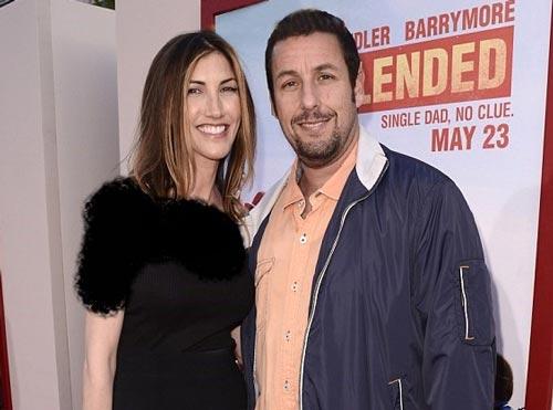 ادام سندلر و همسرش بازیگر معروف هالیوود (عکس)