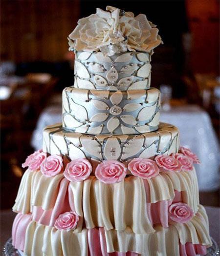 نتیجه تصویری برای مدل کیک مراسم عقد و عروسی 2017