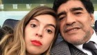 عکس سلفی مارادونا و دختر بزرگش