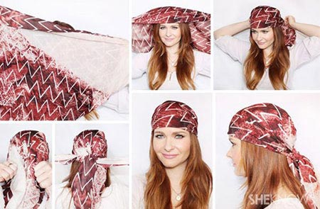 جدیدترین روش بستن روسری - آموزش تصویری