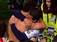 کریس رونالدو چرا این مرد را در آغوش گرفت (عکس)