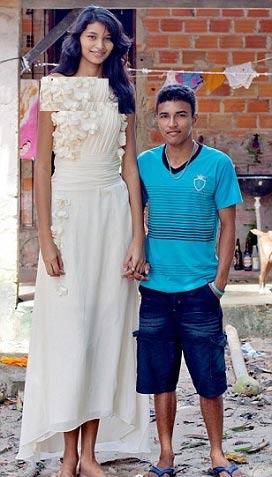 قد بلندترین عروس جهان به خانه بخت رفت +عکس