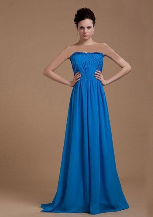 مدل لباس مجلسی رنگ آبی بسیار شیک