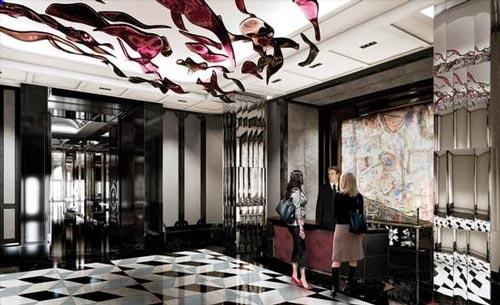 مدل دکوراسیون لابی،تالار ورودی هتل و مهمانخانه ها