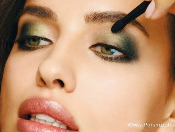 مدل آرایش و میکاپ صورت ایرینا شایک مانکن روسی