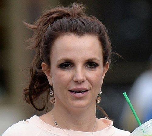 چهره بریتنی اسپیرز خواننده معروف بدون آرایش و میکاپ