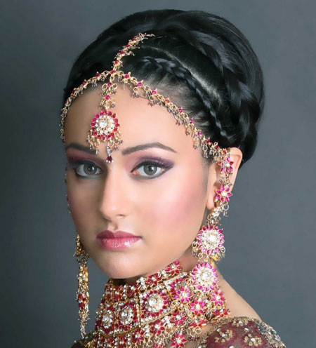 مدل آرایش و میکاپ عروس هندی
