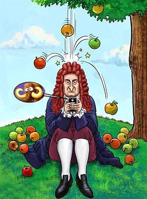 قانون هایی که نیوتن از قلم انداخت (طنز)