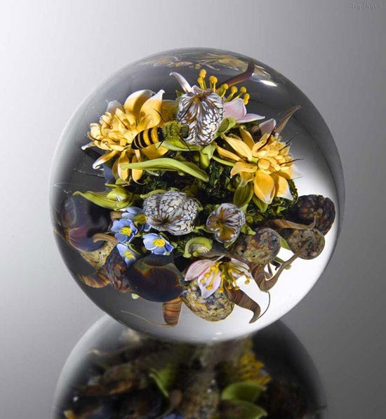 آثاری بسیار زیبا و خیره کننده از هنرهای شیشه ای