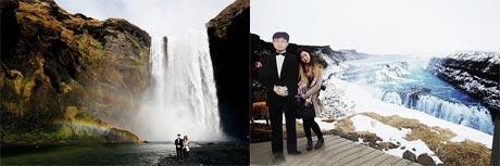 سفر جالب دختر جوان با ماکت پدرش به دور دنیا + عکس