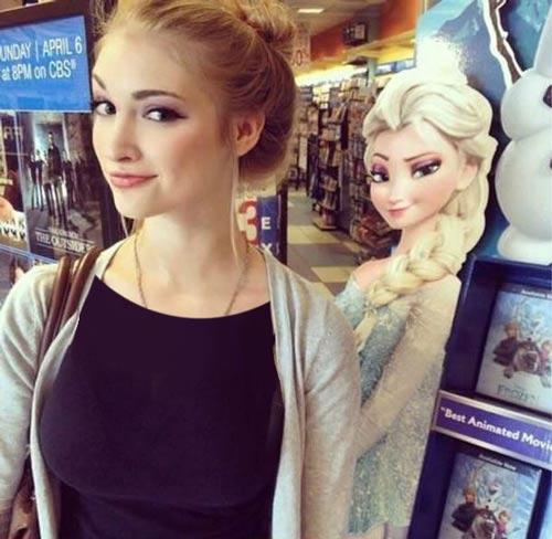 دخترانی که به طرز عجیب شبیه شخصیت کارتونی هستند