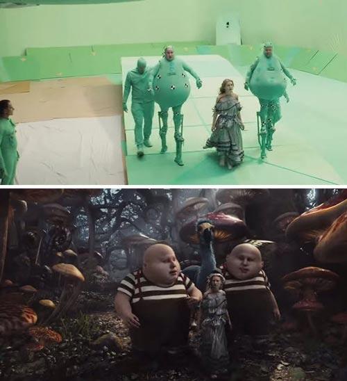 تصاویر جالب جلوه های ویژه در فیلم های هالیوودی