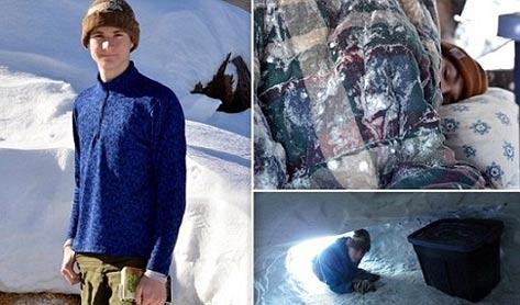 این پسر عجیب یک سال در یک غار سرد می خوابید