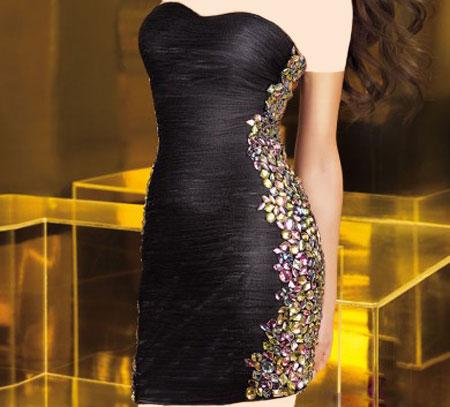 مدل لباس شب مشکی شیک و براق