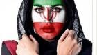 الناز شاکردوست با نقاشی پرچم ایران روی صورتش