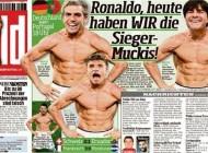 به تمسخر کشیدن کريستيانو رونالدو توسط روزنامه آلمانی + عکس