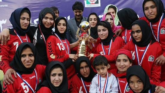 عکسهای جالب از زنان فوتبالیست افغانستان