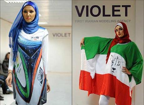مانتو های جدید با طرح های پرچم ایران و نمادهای جام جهانی