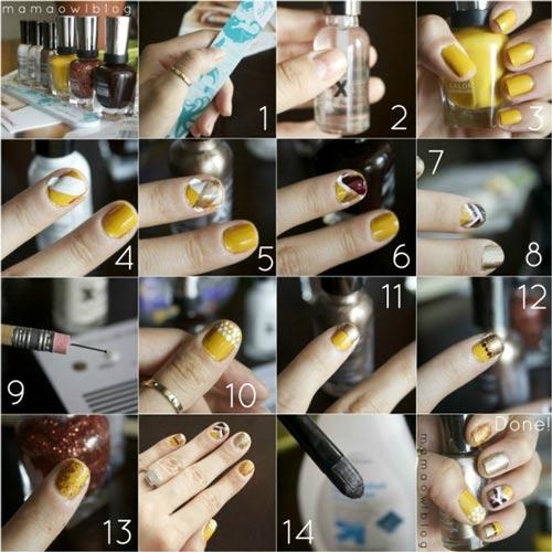 آموزش گام به گام طراحی ناخن در منزل + عکس