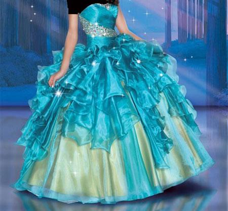 جدیدترین لباس نامزدی پرنسسی و پف دار + عکس