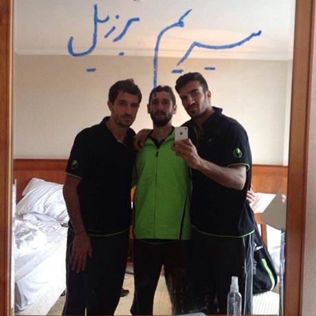 همدردی جالب دو فوتبالیست با خلعتبری +عکس