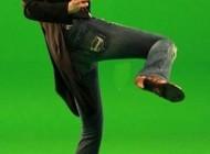 عکس جالب نانسی عجرم در حال روپایی زدن