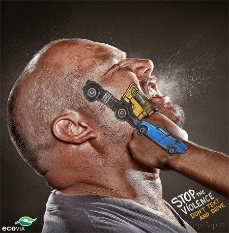تبلیغات جالب برای اخطار به رانندگان بی احتیاط + عکس