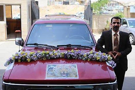 ماشین عروس دیدنی و جالب یک داماد قزوینی + عکس