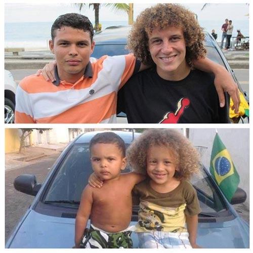 شباهت باورنکردنی دو کودک به دو ستاره مشهور فوتبال + عکس