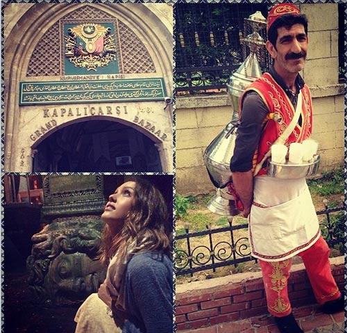 سفر جسیکا آلبا هنرپیشه مشهور هالیوودی به ترکیه + عکس