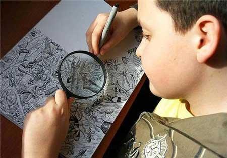 نقاشی های شگفت انگیز و هنرمندانه این پسر 11 ساله
