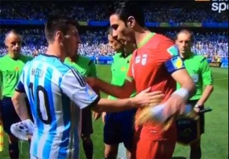 درخواست نکونام از مسی قبل از بازی ایران و آرژانتین + عکس