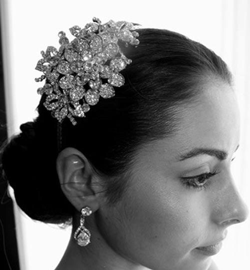 مدل های زیبا جدید گل سر عروس