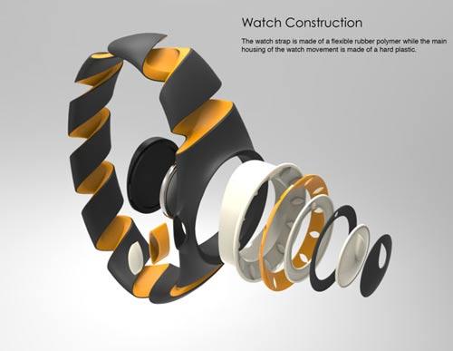 رونمایی مفهوم ساعت مچی نایک + عکس