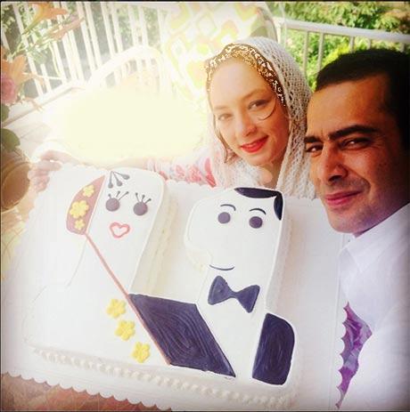کیک جالب سالگرد ازدواج نیما فلاح و سحر ولدبیگی + عکس