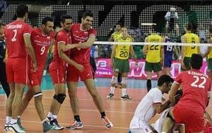 پیروزی شگفت انگیز والیبال ایران مقابل برزیل +عکس