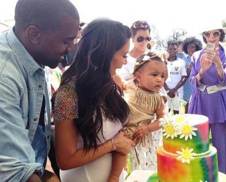 جشن تولد میلیاردی دختر کیم کارداشیان و کانیه وست + عکس