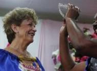 مراسم مسابقه ملکه زیبایی در بین پیرزن ها +عکس