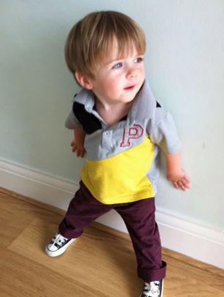 نوزادی با لباس جالب بتنی +عکس