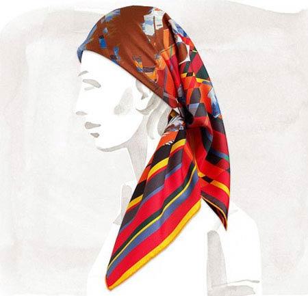 روسری های شیک زنانه از برند هرمس